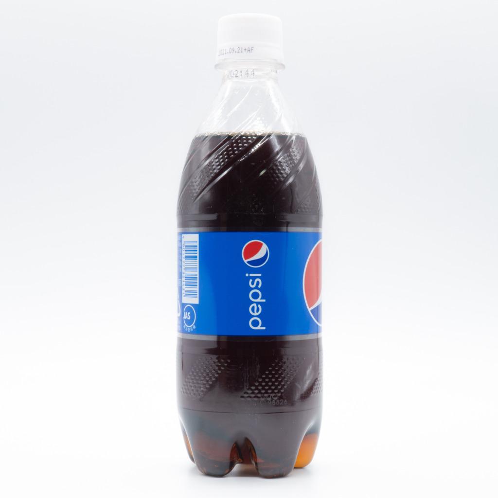 ペプシコーラ、レギュラー、日本、ペットボトル、横面